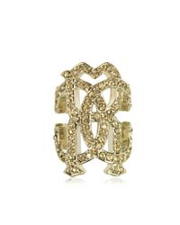 Roberto Cavalli | Metallic Rc Lux Metal Ring W/crystals | Lyst