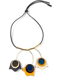 Marni - Metallic Floral Pendant Necklace - Lyst