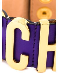 Moschino | Purple Logo Plaque Bracelet | Lyst