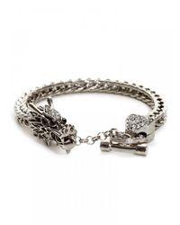 BaubleBar - Metallic Khaleesi Bracelet-Silver - Lyst