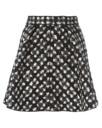 Moncler Gamme Rouge - Black Jacquard Flared Skirt - Lyst