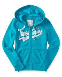 Aéropostale | Blue Times Square Full-zip Hoodie | Lyst