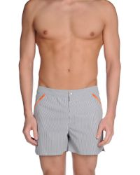 Robinson Les Bains - Gray Swimming Trunks for Men - Lyst