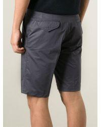 Lanvin - Gray Bermuda Shorts for Men - Lyst