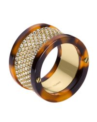 Michael Kors - Metallic Tortoise Pave Ring - Lyst