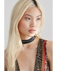 Forever 21 | Black Layered Leather Choker | Lyst