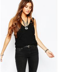 Free People   Double Bubble Top In Black   Lyst