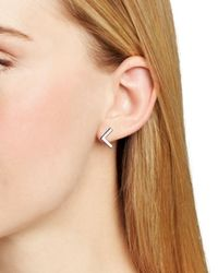 Ralph Lauren | Metallic Lauren V Stud Earrings | Lyst