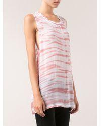 Lacausa - Pink Dads Native Wash T-Shirt - Lyst