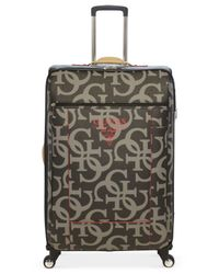 "Guess | Black Thurston 25"" Spinner Suitcase for Men 