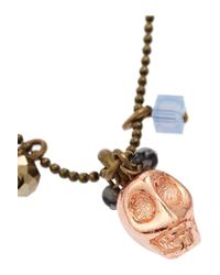 Isabel Marant - Multicolor Goldtone Skull Necklace - Lyst