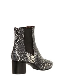 Isabel Marant | White Danae Snake-effect Leather Ankle Boots | Lyst