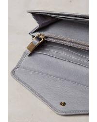 Liebeskind   Metallic Fanni Distressed Leather Wallet   Lyst
