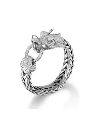 John Hardy - Metallic Legends Naga Dragon Head Bracelet for Men - Lyst