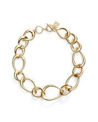 Anne Klein - Metallic Tapered Link Collar Necklace - Lyst