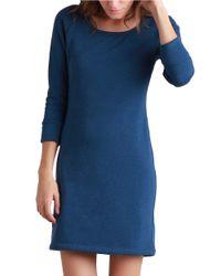 Ugg | Blue Lirette Cotton Blend Short Sleep Dress | Lyst