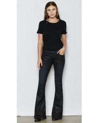 Current/Elliott - Black The Low Bell Flare Jean - Lyst