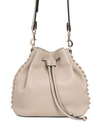 Rebecca Minkoff | Natural Studded Leather Bucket Bag | Lyst