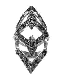 House of Harlow 1960 - Metallic Pave Jaws Finger Ring - Lyst