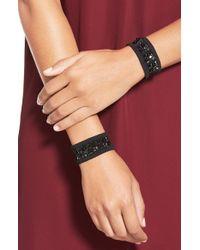 Wolford | Black 'tiara' Swarovski Embellished Bracelets | Lyst