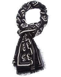 Marc By Marc Jacobs | Black Logo Print Scarf | Lyst