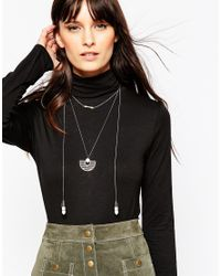 ASOS - Metallic Interstellar Station Necklace - Lyst
