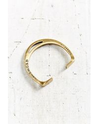 Giles & Brother - Metallic Stirrup Brass Cuff Bracelet - Lyst