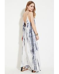 a519be7238c5 Forever 21 Boho Me Tie Dye Maxi Dress in White - Lyst