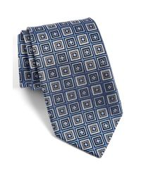 JZ Richards - Blue J.z Richards Geometric Silk Tie for Men - Lyst