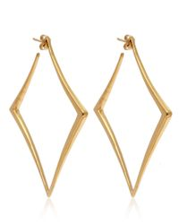 Dinny Hall | Metallic Large Gold Vermeil Almaz Hoop Earrings | Lyst