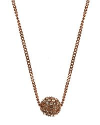 Givenchy - Pink Rose Gold Plated And Crystal Fireball Necklace - Lyst