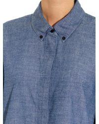 Proenza Schouler - Blue Point-Collar Chambray Shirt - Lyst