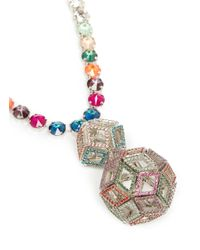 Erickson Beamon | Multicolor ''bucky Ball' Crystal Drop Necklace | Lyst