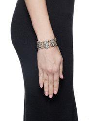 Lulu Frost - Metallic 'larkspur' Multi Floral Crystal Station Bracelet - Lyst