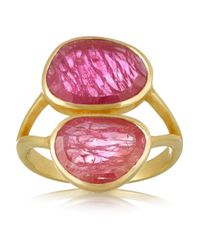 Pippa Small - Purple 18-Karat Gold Ruby Ring - Lyst