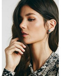 Free People | Blue Pyramid Double Stud Ear Jacket | Lyst