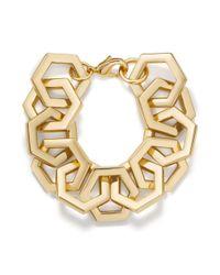 Tory Burch - Metallic Hexagon Link Bracelet - Lyst