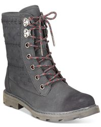 Roxy - Gray Pike Lace-up Hiking Booties - Lyst