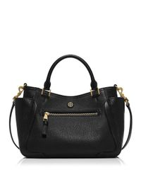 Tory Burch | Black Frances Slouchy Satchel | Lyst