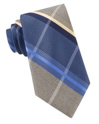 MICHAEL Michael Kors | Blue Nue Plaid Tie for Men | Lyst
