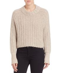 Rag & Bone | Natural Makenna Wool-blend Sweater | Lyst