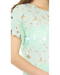 Re:named - Green Short Sleeve Flower Tee Mint - Lyst