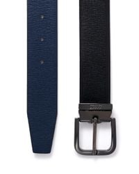 Armani - Blue Reversible Saffiano Leather Belt for Men - Lyst