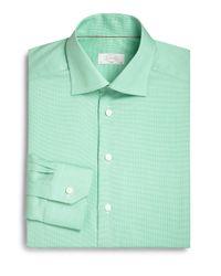 Eton of Sweden | Green Slimfit Micro Houndstooth Dress Shirt for Men | Lyst