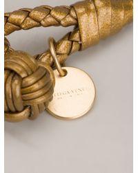 Bottega Veneta - Metallic Leather Bracelet - Lyst