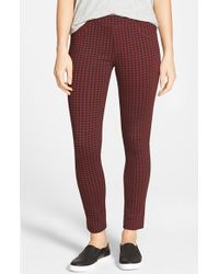 Sanctuary - Brown Check Plaid Leggings - Lyst