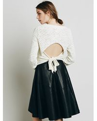Free People - White Womens Bow Back Pullover - Lyst