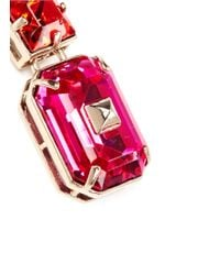 Valentino - Pink Bi-colour Rhinestone Earrings - Lyst