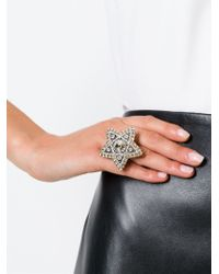 Lanvin - Gray Star Ring - Lyst