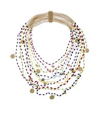 Rosantica By Michela Panero | Metallic Divina Gitani Agate Bead Necklace | Lyst